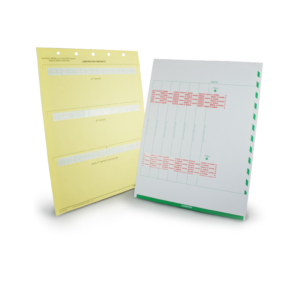 Medical lab mount sheets for hospitals, clinics and other health offices printed by Pro-Type Printing