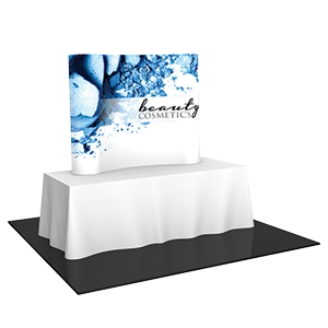 Tradeshow table with tabletop backdrop display. Display available from Pro-Type Printing