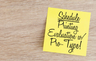 Printing Evaluations available from Pro-Type Printing