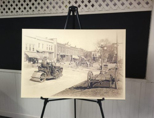 Onarga Historical Society Canvas Display